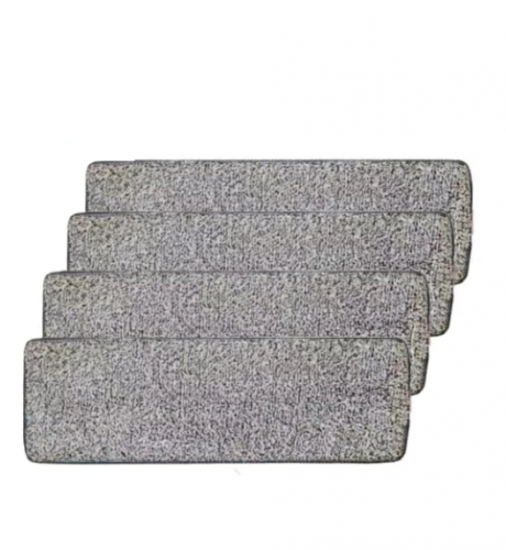 Spin Mop Mikrofiber Tablet Mop Yedek Bezi 3 Adet Gri 12 x 33 CM